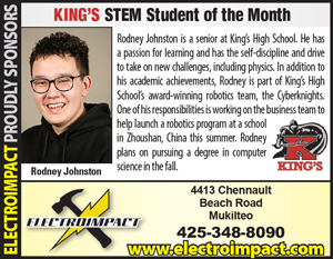 Electroimpact Sponsors Student of the Month Rodney Johnston